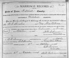 Hughes, Wm F-O'Hara, Mary Alice Marriage Record