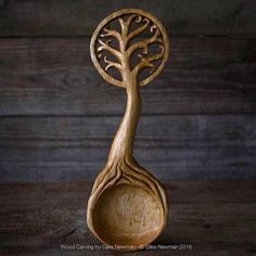 Intricately Hard-Carved Wooden Spoons Pay Homage to Nature with Decorative Handles - My Modern Met