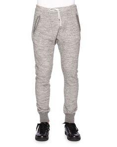 DSQUARED2 Melange Drawstring Sweatpants, Gray. #dsquared2 #cloth #