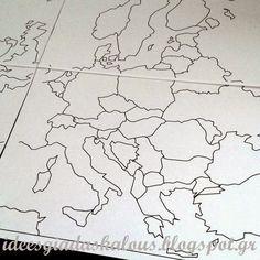 Ιδέες για δασκάλους:Megamaps: Χάρτες για εκτύπωση! School Projects, Projects To Try, School Ideas, Teachers Corner, School Games, Autumn Activities, In Kindergarten, Classroom Decor, Creations