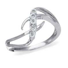 10K White Gold, Diamond Accent Fashion Ring http://bit.ly/I36UbS
