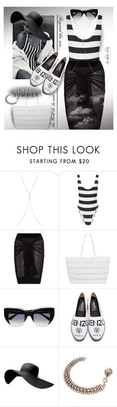 """""""#beachlook"""" by liligwada ❤ liked on Polyvore featuring Chan Luu, Norma Kamali, BUCO, Thierry Lasry and Kenzo"""
