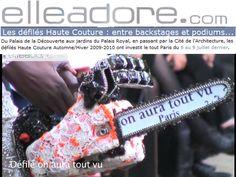 Elleadore juillet 2009 Fashion Show couture by on aura tout vu. Haute Couture Fashion Week Paris