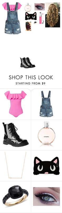 """""""Untitled #131"""" by pinky731 ❤ liked on Polyvore featuring Lisa Marie Fernandez, Gia-Mia, Chanel, Jacquie Aiche, Forever 21, Pomellato and Revlon"""