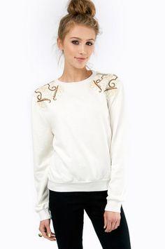 Urban Sophia Embellished Sweater $46 at www.tobi.com