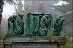 """Cemetery Viersen, The Rhineland - """"Here we persevere against the resurrection."""""""
