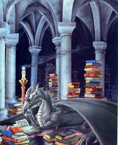 Dragon's hoard of books...even dragons need to read