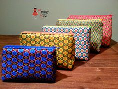 Peggy Sew: The zipper pouch Sewing Hacks, Sewing Tutorials, Sewing Crafts, Sewing Projects, Sewing Patterns, Diy Bags Purses, Diy Purse, Love Sewing, Sewing For Kids