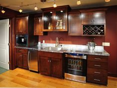 99+ Basement Bar Cabinet Ideas - Kitchen Cabinets Update Ideas On A Budget Check more & Basement bar...Concept similar to our layout. Under counter wine and ...