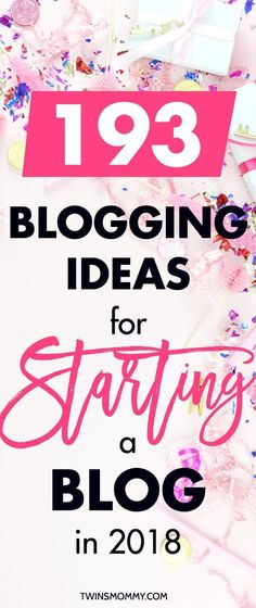 Stuck trying to find some topics for your blog? There are 193 blogging ideas for beginners in this totally awesome blog post! OMG!!! If you want to start a blog to make money, work from home and make money or be a mom blogger, you need a blog niche. This is a blog niche that makes money and this post is filled with inspiration ideas for your blog | start a blog for beginners | blogging topics | blogging ideas | blogging ideas lifestyle