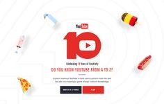 Adobe / TheFWA | The Cutting Edge award winner | The A-Z of YouTube: Celebrating 10 Years