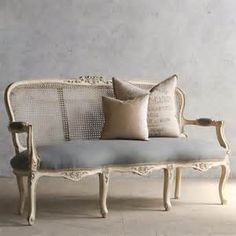 antique settee cane back - - Yahoo Image Search Results