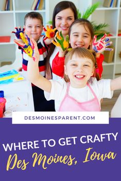Art in Des Moines | Where to Get Crafty in Des Moines, Iowa Art Therapy Projects, Art Therapy Activities, Kids Therapy, Indoor Activities For Kids, Summer Activities, Kid Activities, Initial Wall Art, Kids Workshop, Fun Arts And Crafts