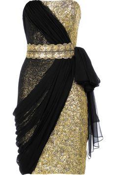 Black and Gold Cocktail Dresses | Golden Evening Dresses, Short Prom Dresses and Formal Dresses from