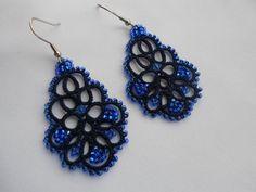 Ehi, ho trovato questa fantastica inserzione di Etsy su https://www.etsy.com/it/listing/217171197/blue-earrings-tatted-earrings-tatting