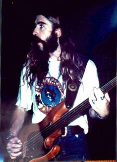 overthegreenhills:  ~Berry Oakley, The Allman Brothers Band, c.1971~One of my favorite bassists of all time, wearing a t-shirt from one of the greatest jam bands of all time.