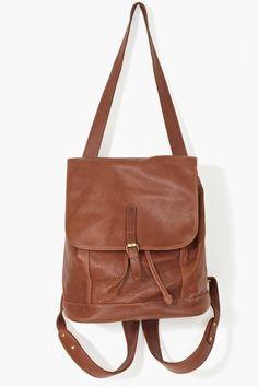 Bags : Brown Leather Backpack, NastyGal