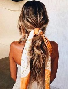 10 ways to vary a Ponytail hairstyle - Weave hair, Clip-in hair extensions, 100% human remy hair Cute Bandana Hairstyles, Ponytail Hairstyles, Summer Hairstyles, Trendy Hairstyles, Hairstyle Ideas, Girl Hairstyles, Fashion Hairstyles, Hair Ideas, Ponytail Ideas