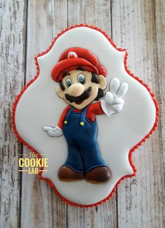 The Cookie Lab by Marta Torres Coloured Royal icing Decorated Cookie - Not painted  Super Mario Cookie