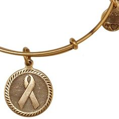 Alex and Ani bangle.   The gold ribbon is perfect for childhood cancer awareness.