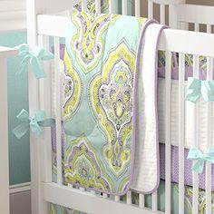 Aqua and Amethyst Laval 3-Piece Crib Bedding Set Carousel Designs http://www.amazon.com/dp/B00P8DTNCA/ref=cm_sw_r_pi_dp_Cf26vb1V0GF68