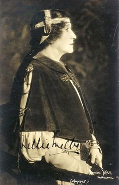 Signed photograph of Nellie Melba as Marguerite in Faust, 1924
