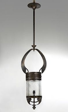 Early Twentieth Century Hanging Lantern, In the manner of Gustave Serrurier-Bovy