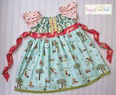 SALE Little Girls It's a Sweet Life Dress. Sizes: 12mo, 4t,    Handmade at Sugar Creek Kids