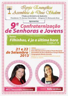 Cartaz AD Shalon Palmas Tocantins Agosto 2013.