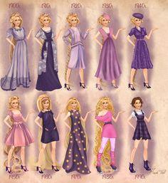 Rapunzel in 20th century fashion by BasakTinli