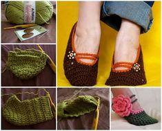 diy crochet slippers ile ilgili görsel sonucu