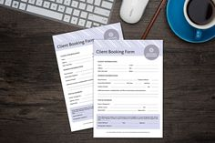 Client Booking Form on Behance