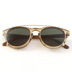 Han Kjobenhavn Timeless Clip On Sunglasses Horn Sun Green