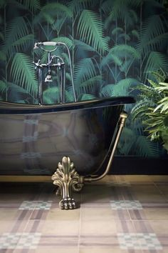 fronds #mural #bathroom #botanical