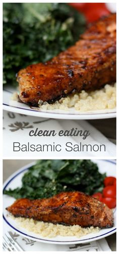 Quick and Easy Balsamic Salmon This clean eating balsamic salmon recipe will become your go-to salmon recipe. It's so easy and takes less than 20 minutes to prepare. - One of my favorite salmon recipes = Clean Eating Balsamic Salmon Fish Recipes, Seafood Recipes, New Recipes, Cooking Recipes, Healthy Recipes, Quick Salmon Recipes, Favorite Recipes, Dinner Recipes, Best Salmon Recipe