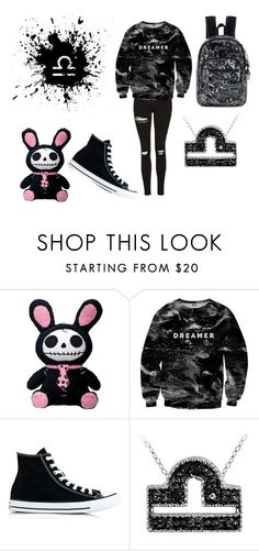 """""""Dark Libra"""" by vveramendi ❤ liked on Polyvore featuring Mr. Gugu & Miss Go, Converse and Sakroots"""