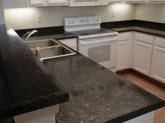 formica countertops that look like granite | Refinish your laminate countertop to look like granite. Like the black