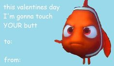 Finding Nemo Valentines Day card