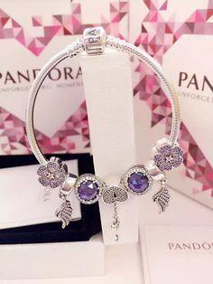 Tendance Bracelets  50% OFF!!! $199 Pandora Charm Bracelet Purple. Hot Sale!!! SKU: CB01751  PANDOR