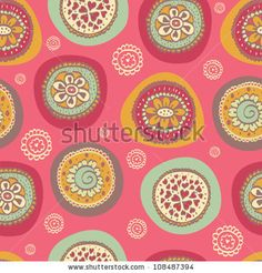 Ornate floral seamless texture, endless pattern with flowers. Seamless pattern can be used for wallpaper, pattern fills, web page background...