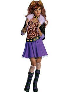 Girls Clawdeen Wolf Monster High Costume | Cartoon Characters Halloween Costumes