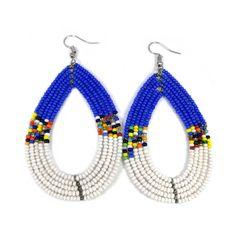 Beaded earring, African earrings, Maasai earrings, Kenyan earrings, Masai earrings, colorful earrings, earrings, boho earrings by Sipdada on Etsy