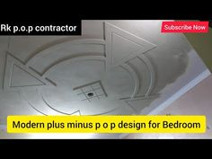 Latest p o p plus minus design for Bedroom / Rk p.o.p contractor - YouTube