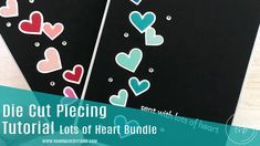 Die cut piecing video tutorial using Lots of Heart bundle - Stampin' Up! - Fiona Bradley My Crazy, Die Cutting, Stampin Up, Video Tutorials, Heart, Projects, Cards, Youtube, Log Projects