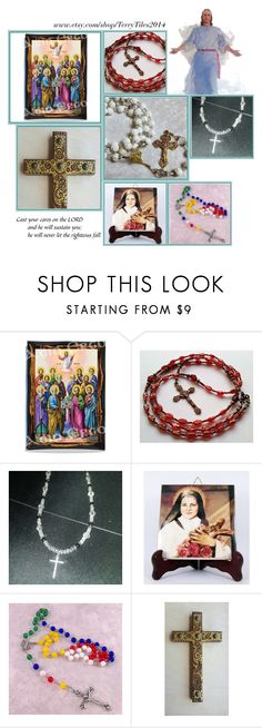 """Religious Art on Etsy by TerryTiles2014 - Volume 129"" by terrytiles2014 on Polyvore featuring interior, interiors, interior design, Casa, home decor, interior decorating, etsy, art, catholic e religious"