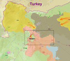 Map of Northern Syria during the offensive, with the area shown within the Aleppo City map marked by the box. Syrian Armed Forces, Aleppo City, World History, Middle East, Campaign, Maps, Journal, York, Usa