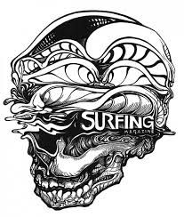 Image result for surfing art black and white