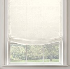 RH's Belgian Sheer Linen Relaxed Roman Shade:Highly functional and just a bit casual, our custom Relaxed Roman Shades ensure that the windows themselves are part of the view. Their smooth front is tailored to fall into a gentle curve at the bottom. In a variety of fabric options that are also available in our drapery collections, allowing you to combine coverings in the same room – or even on the same window – with perfect ease. May also be layered over our Solar or Blackout Roll...