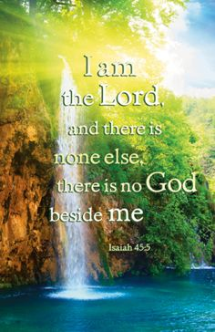 """Isaiah 45:5 """"I am YAHWEH and there is none else., there is no God beside me.""""...........Study the Name of Yahweh God& the power of blessing & salvation in it for you that is not fake. Then you too can MOVE to magnify the Name of God in your life at last.  www.magnificatmealmovement.com"""