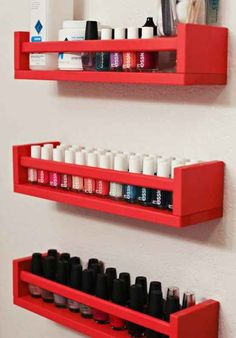 They also hold two rows of nail polish perfectly, if you've got an overflowing collection.